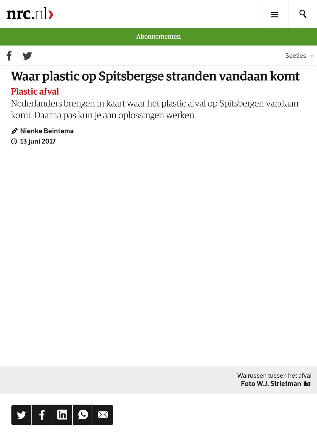 Waar Plastic Op Spitsbergse Stranden Vandaan Komt